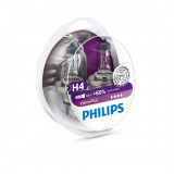 P-12342VP2 Автолампа H4 (60/55) P43t-38+60% VISION PLUS (2шт) 12V PHILIPS