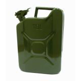 NB Канистра для бензина 10л. металлическая (со стопорным шплинтом на крышке) (38603)