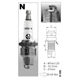 BRISK Свечи зажигания N17 - J new (CLASSIC) (4 шт.)