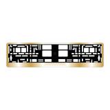 AVS Рамка под номерной знак хром (золото)RN-13 (A78488S)
