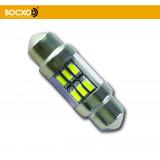 89558 1,6W 12V 105Lm SV8.5-8 (аналог 10W 31mm) Standard (бл.2шт) BOCXOD Автолампа светодиодная LED