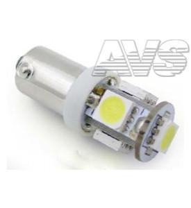 AVS Светодиодная лампочка B008 Т8/белый/ (BA9S) 5SMD 5050, блистер 2 шт (A80644S)