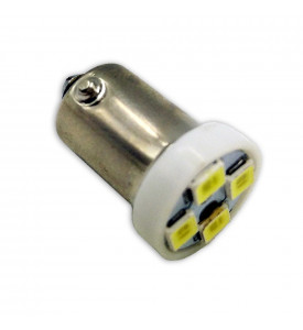 AVS Светодиодная лампочка B043 Т8/белый/ (BA9S) 4SMD 2835 12V, блистер 2 шт. (A07041S)
