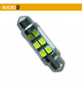 89855 0,6W 24V 57Lm SV8.5-8 (аналог C5W) Standard (бл.2шт) BOCXOD Автолампа светодиодная LED