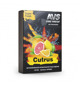 AVS Ароматизатор US-030 Super Fresh (аром. Цитрус/Citrus) (гелевый) (A07504S)