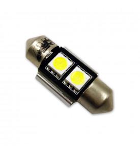 AVS Светодиодная лампочка C004 T11/белый/ (SV8,5) CANBUS 2SMD5050 31 мм 12V. (A07055S)
