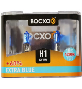 80511(C)EB-2BOX Автолампа галогенная (Extra Blue +60%) H1 12V 55W P14.5s (2 set)